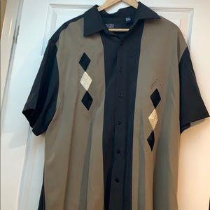Men's vintage silk shirt